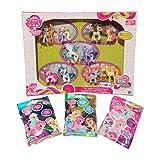 My Little Pony Bundle - Exclusive Friendship is Magic Pony Friends Forever Collection + Wave 10 Rainbow Diamond, Wave 11 Breezie & Wave 12 Cutie Mark Magic Action Mini Figure Random Surprise Blind Bag Mystery Pack (1 Pack of Each)