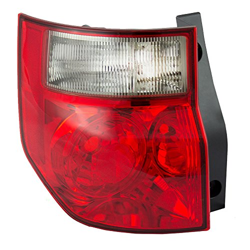 (Drivers Taillight Tail Lamp with Bright Red Lens Replacement for Honda 33551SCVA01 AutoAndArt)