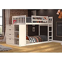 Donco Kids 1600TTW Mission Chest Bunkbed, Twin/Twin, White