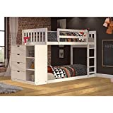 Donco Kids 1600TTW Mission Chest Bunkbed, Twin, White For Sale