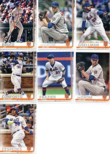 2019 Topps Series 1 Baseball New York Mets Team Set of 10 Cards: Jacob deGrom(#19), Jay Bruce(#44), Michael Conforto(#109), Robert Gsellman(#120), Yoenis Cespedes(#128), Brandon Nimmo(#172), Jacob deGrom(#200), Todd Frazier(#205), Seth Lugo(#237), Jeff McNeil(#281)