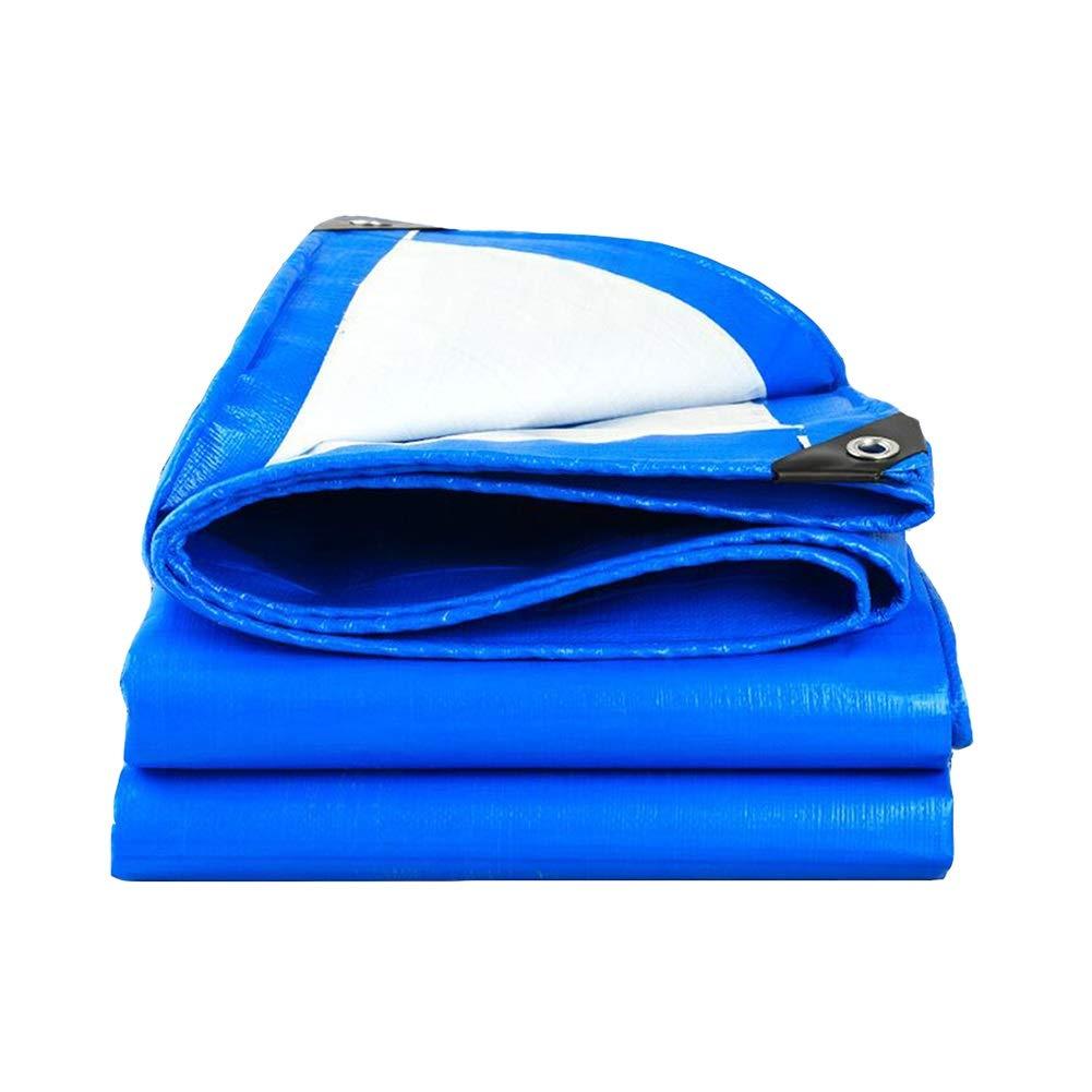 DALL ターポリン タープ 両面 防水 耐食性 ガーデニング 絶縁 紫外線保護 (色 : 青, サイズ さいず : 7*8m) 7*8m 青 B07KRVB96D