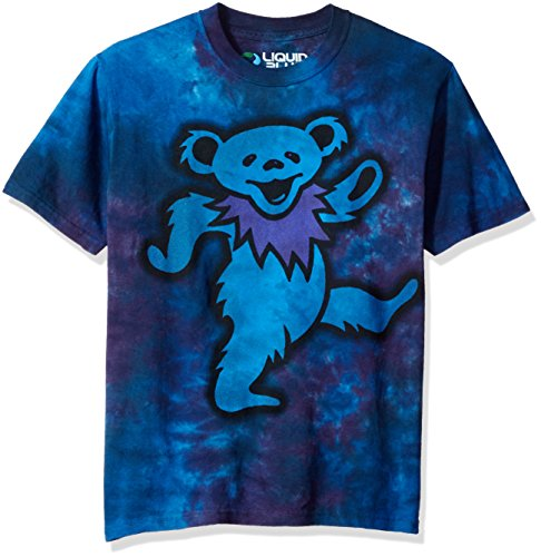 Dead Grateful Dye Tie - Liquid Blue Men's Grateful Dead Big Bear Tie Dye Short Sleeve T-Shirt, Multi, Small
