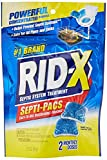 RID-X Septic Tank Treatment Enzymes, 2 Month Supply Septi-Pacs, 2.1oz