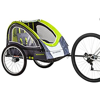 Image of Child Carrier Trailers Schwinn Lumina Reflective Double Bicycle Trailer