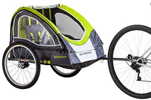 (Schwinn Lumina Reflective Double Bicycle Trailer)