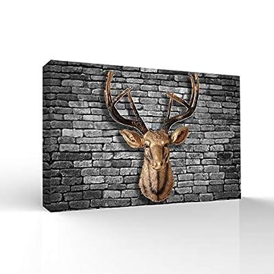 Marvelous Print, Deer Animal Horn Painting Wall Bedroom Living House, Original Creation