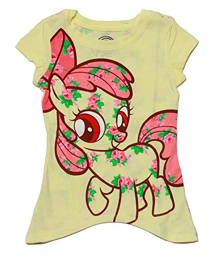 My Little Pony Yellow Toddler Shark Bite T-shirt - 2T (T-shirt Yellow Bite)