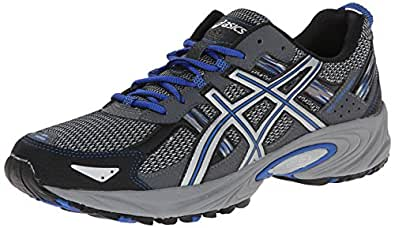 ASICS Men's Gel Venture 5 Running Shoe, Silver/Light Grey/Royal, 8 M US