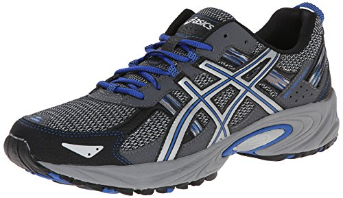 ASICS Men's Gel Venture 5 Running Shoe, Silver/Light Grey/Royal, 10.5 4E US