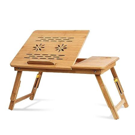 Mesa ajustable para laptop, Escritorio portátil de la cama derecha ...