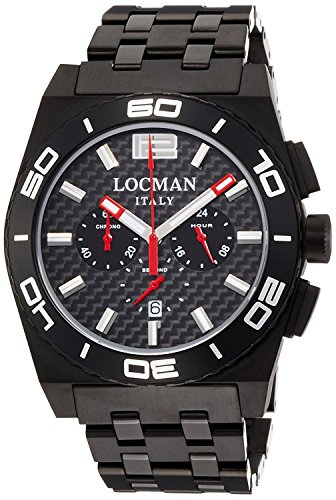 LOCMAN watch stealth Mare quartz chronograph rotating bezel Men's 0212 0212BKKA-CBKBRK Men's [regular imported goods]