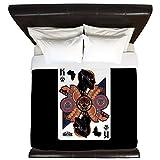 CafePress - Black Panther King - King Duvet Cover, Printed Comforter Cover, Unique Bedding, Microfiber