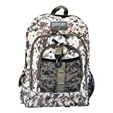 East West U.S.A BC104 Digital Camouflage Military Sports Backpack, Tan/Camo