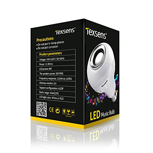 texsens bluetooth music bulb instructions