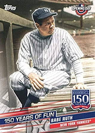 best sneakers ddfcd 62f32 2019 Topps Opening Day 150 Years of Fun Set #YOF-5 Babe Ruth New York  Yankees Baseball Card