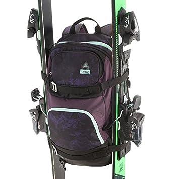 Mochila Wedze para esquí y snowboard con correas de esquí/tabla, morado