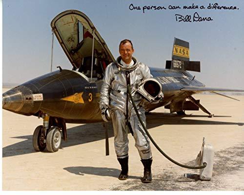BILL DANA signed autographed NASA TEST PILOT photo GREAT CONTENT