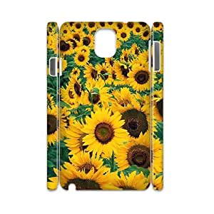 3D Samsung Galaxy Note 3 Case, Young Sunflower Case for Samsung Galaxy Note 3 {White}