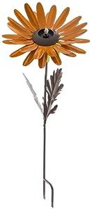 Desert Steel Orange Daisy Garden Torch – Metal Art Citronella Flower Torch