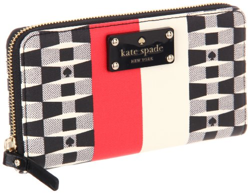 UPC 098689408859, Kate Spade New York Signature Spade-Lacey Wallet,Black/Cream/Red,One Size