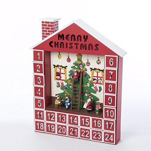 Kurt Adler Wooden Advent Calendar House, 15-Inch