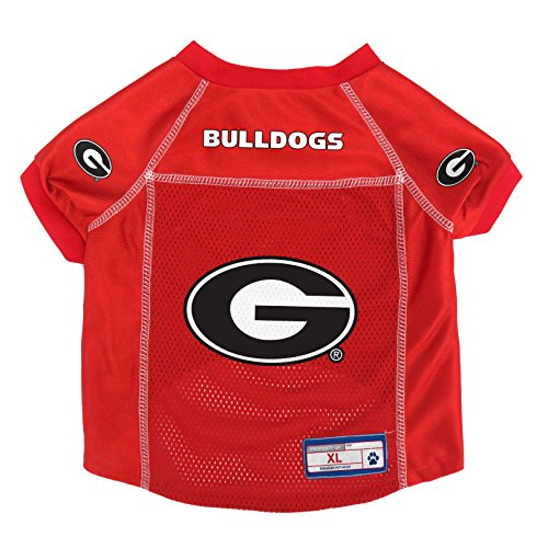 NCAA Licensed Georgia Bulldogs Pet Jersey, XL, Light Red (Ncaa Dog Jersey Shirt)