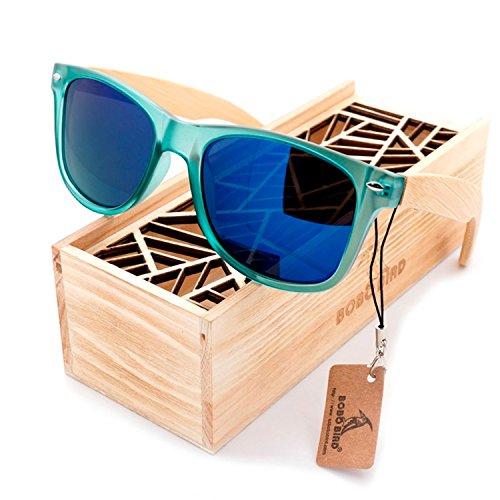 JapanX Bamboo Sunglasses & Wood Wooden Sunglasses for Men Women, Polarized Lenses Gift Box – Wooden Vintage Wayfarer Sunglasses - Bamboo Wood Wooden Frame – New Style Sunglasses (A2 - Japanese Glasses Wooden Frames