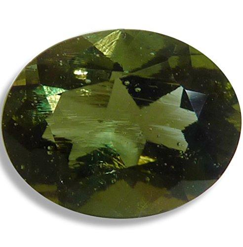 Oval 10x8mm Faceted Gem (Natural Moldavite Green Oval Loose Unset Gem (10x8mm))