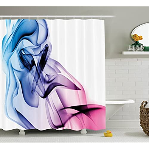 colorful bathroom accessories. Abstract Home Decor Shower Curtain Set By Ambesonne, Artwork With Colorful Smoke Dynamic Flow Swirl Contemporary Art, Bathroom Accessories, Accessories