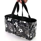 Ecokaki(TM) Portable Baby Diaper Nappy Insert Organizer Storage Bag Mummy Bag Multifunctional Maternity Baby Storage Bag, Black by Ecokaki