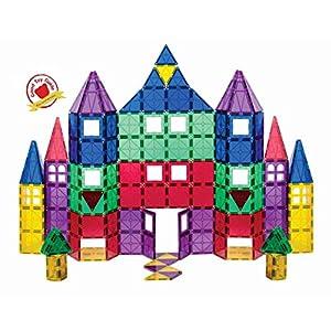 Playmags Set Da 100 Pezzi Con Magneti Pi Potenti Con Tessere Chiare E Vivaci 18 Accessori Clickin Per Migliorare La Tua Creativit
