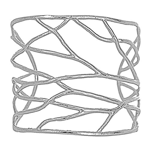 Intricate Branches Cuff Bracelet, Nature Inspired Eco Chic Designs by Mercedes (Silver - Nature Inspired Designs
