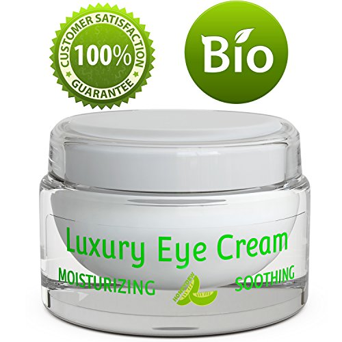 Pure and Natural Eye Cream for Sensitive Skin – Reduces Wrinkles, Puffiness, Lines and Dark Circles – Hypoallergenic Formula for Men & Women