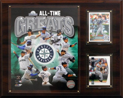 C&I Collectables MLB Seattle Mariners 12x15-Inch All Time Greats Photo Plaque
