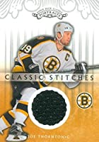 Joe Thornton player worn jersey patch hockey card (Boston Bruins) 2003 Upper Deck Classic Portraits #CSJT
