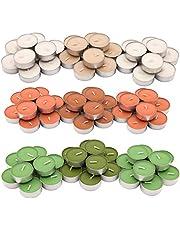 3-Pack Mixed IKEA Sinnlig Tealights Bundle: Green Apple Pear, Vanilla Pleasure, Orange/Peach Scents - 30 Tealights of Each Scent - 90 Tealights Total …