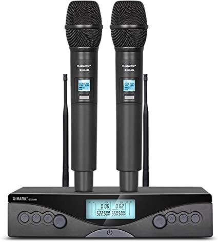 Amazon Com G Mark G320am Wireless Microphone Handheld Karaoke Microphone Frequency Adjustable 100m Receive Home Audio Theater