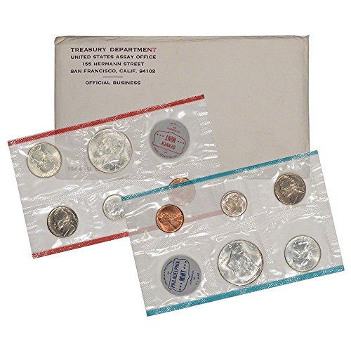 (1964 - 10-Coin Uncirculated Silver P&D Mint Coin Set in OGP BU)