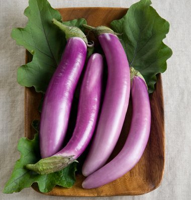 David's Garden Seeds Eggplant Orient Charm D2201PLY (Purple) 25 Hybrid Seeds