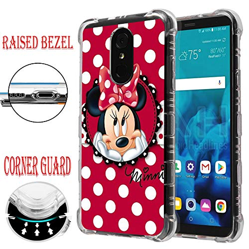 (for LG Stylo 4, Stylo 4 Plus, LG Stylo 4 Case, Air Corner Guard Protector Raised Edge Impact TPU Rubber Case Cover - Minnie Mouse #Polka Dots)