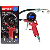 DIYCO D2 | Digital Tire Inflator with Pressure Gauge | Lock-on Air Chuck | 90 Right Angle Valve Extension | For Motorcycle Car TPMS Suv Truck Rv Bike - Design in USA