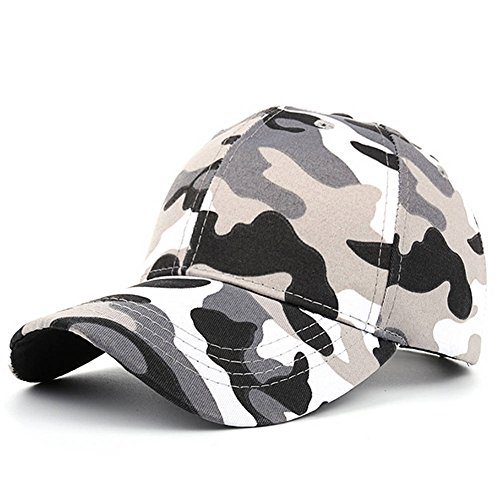 AKIZON Camo Hat for Men Boys Women Camouflage Baseball Cap Adjustable Fashion (Sunshine Kids Snug)