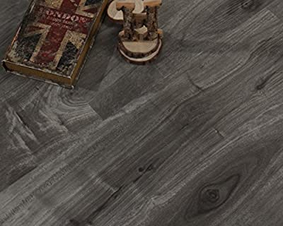 Waterproof WPC Luxury Vinyl Composite Plank Box - Stone Grey - 25.67 sqft