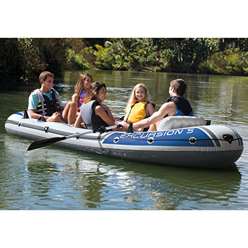 Intex Excursion 5, 5-Person Inflatable Boat Set with Aluminum Oars and High Output Air Pump (Latest Model) by Intex (Image #3)