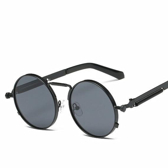 Runde Sonnenbrille Bunte Retro-Sonnenbrille Frühjahr Spiegel Beine Gemeinsam auch Brille , Goldrahmen Lichtspiegel
