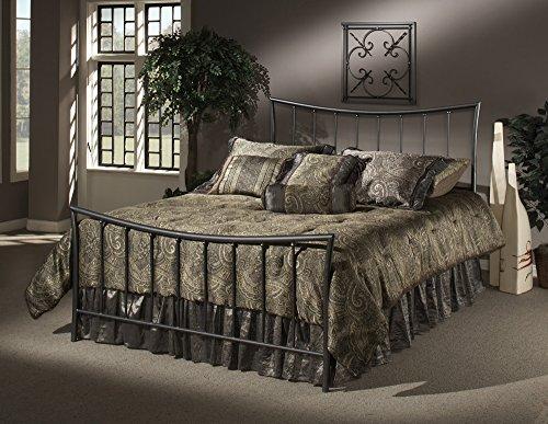 Hillsdale Edgewood Queen Metal Bed, Magnesium Pewter Finish, 1333-500 (Magnesium Pewter Finish)