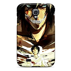 New Premium Flip Case Cover Eren In A Titan Form Skin Case For Galaxy S4