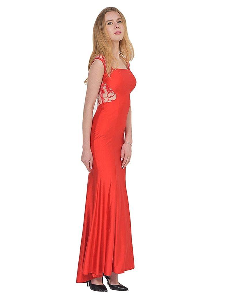 ohyeahlady Womens Embroidery Lace Dress Mermaid Evening Dress Sleeveless Prom Formal Dresses: Amazon.co.uk: Clothing