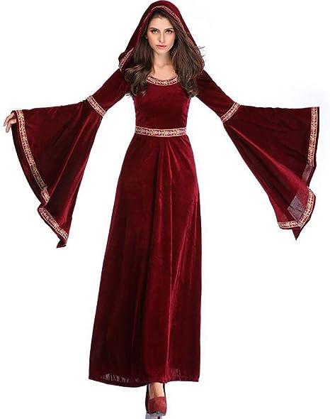 SHANGXIAN Halloween Mascarada Bruja Vampiro Cosplay Disfraz Corte ...
